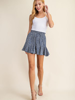 Flared print shorts 3 colors
