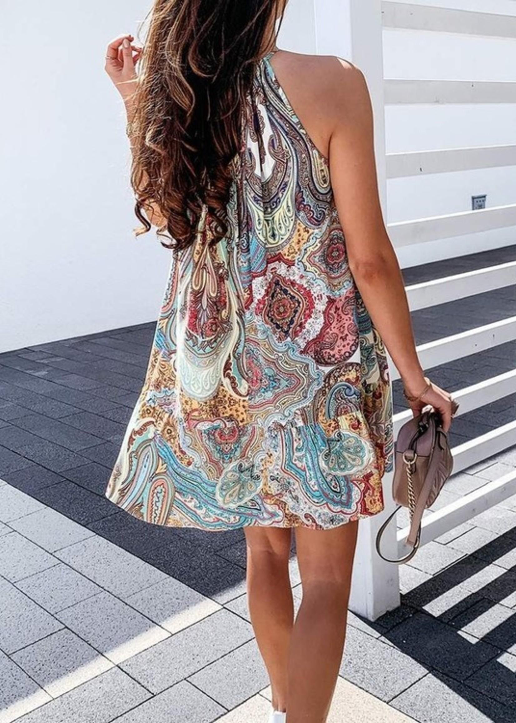 Paisley mini dress