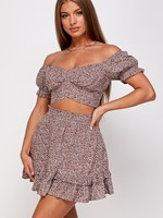 Print skirt set
