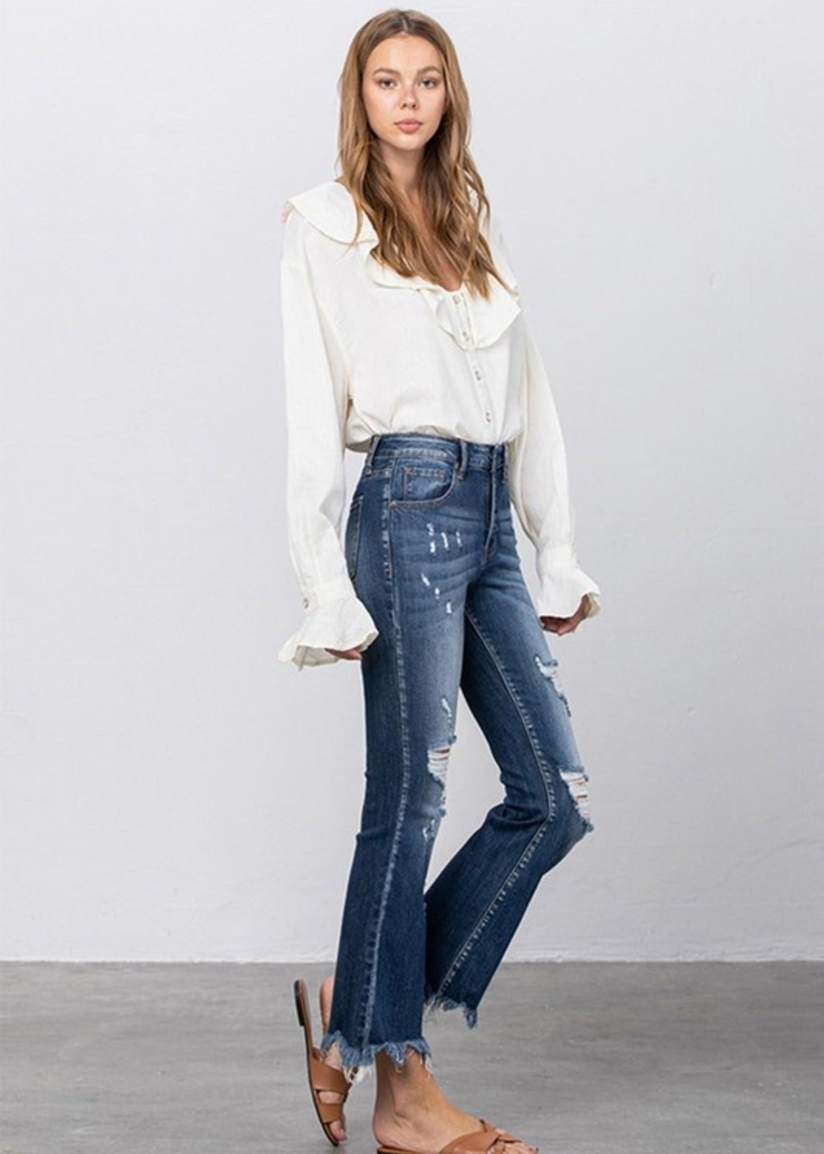 Crop flare jean