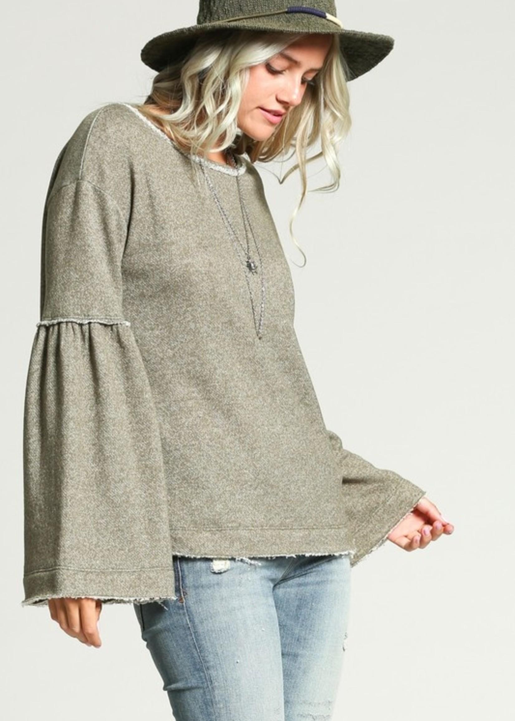 Bell sleeve sweatshirt