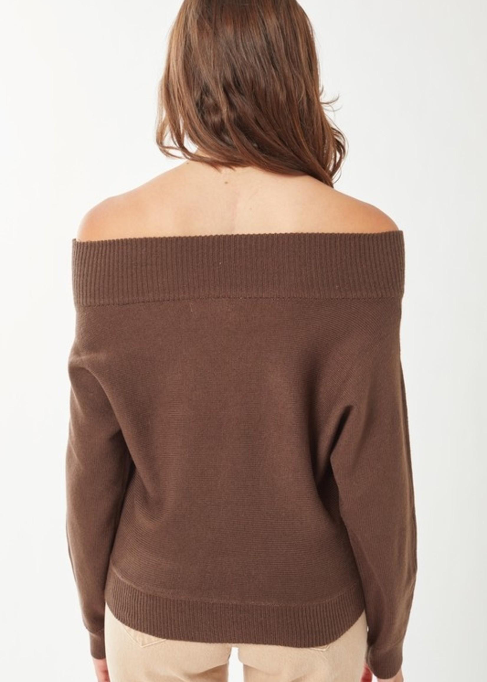 Off shoulder sweater 2 colors