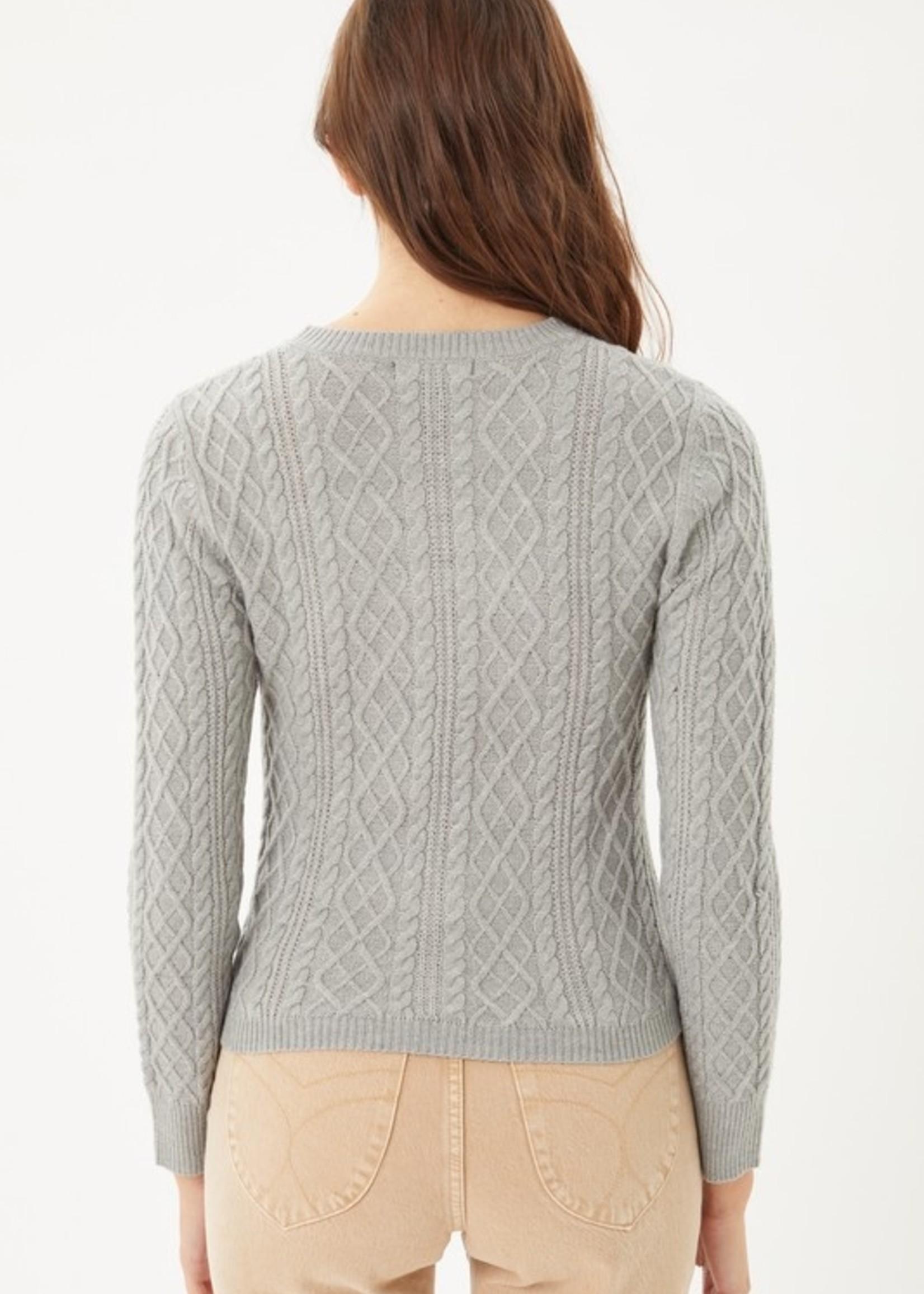 Slit cable knit 2 colors