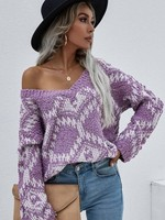 Print sweater 2 colors