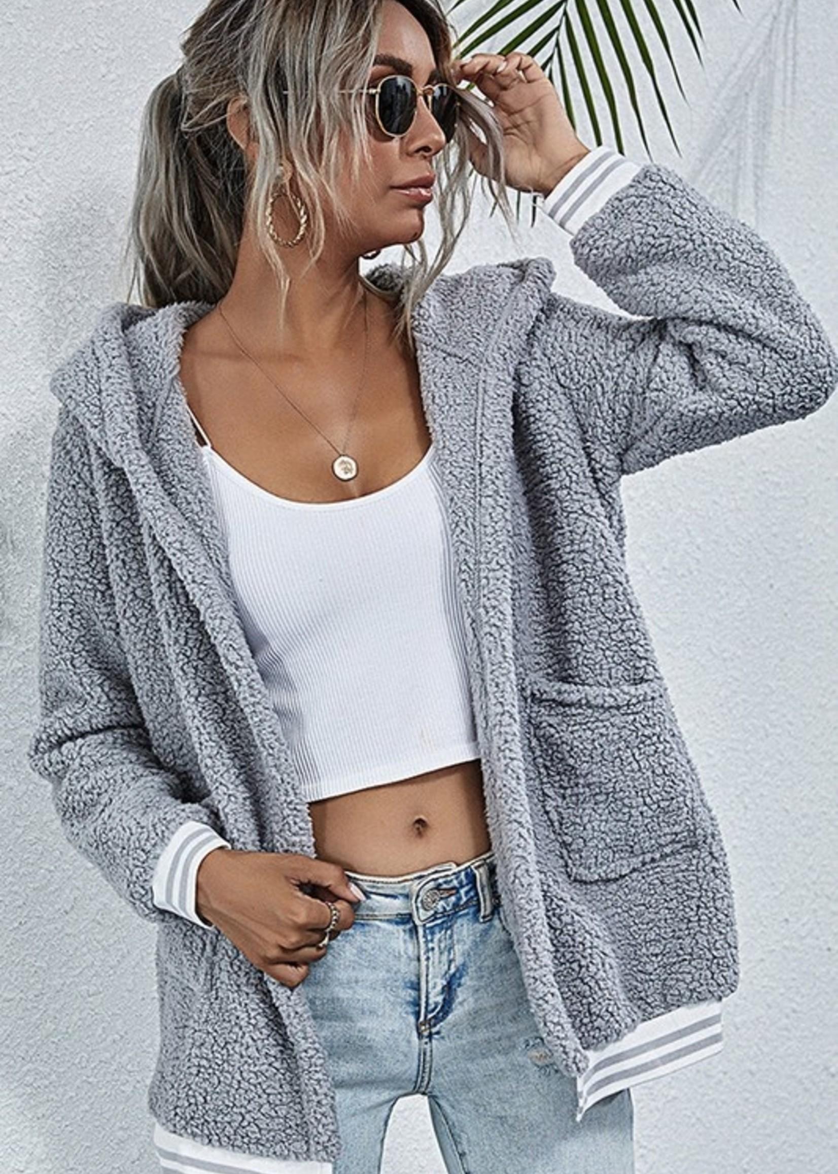 Sherpa stripe jacket