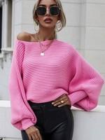 Rib bateau neck sweater 2 colors
