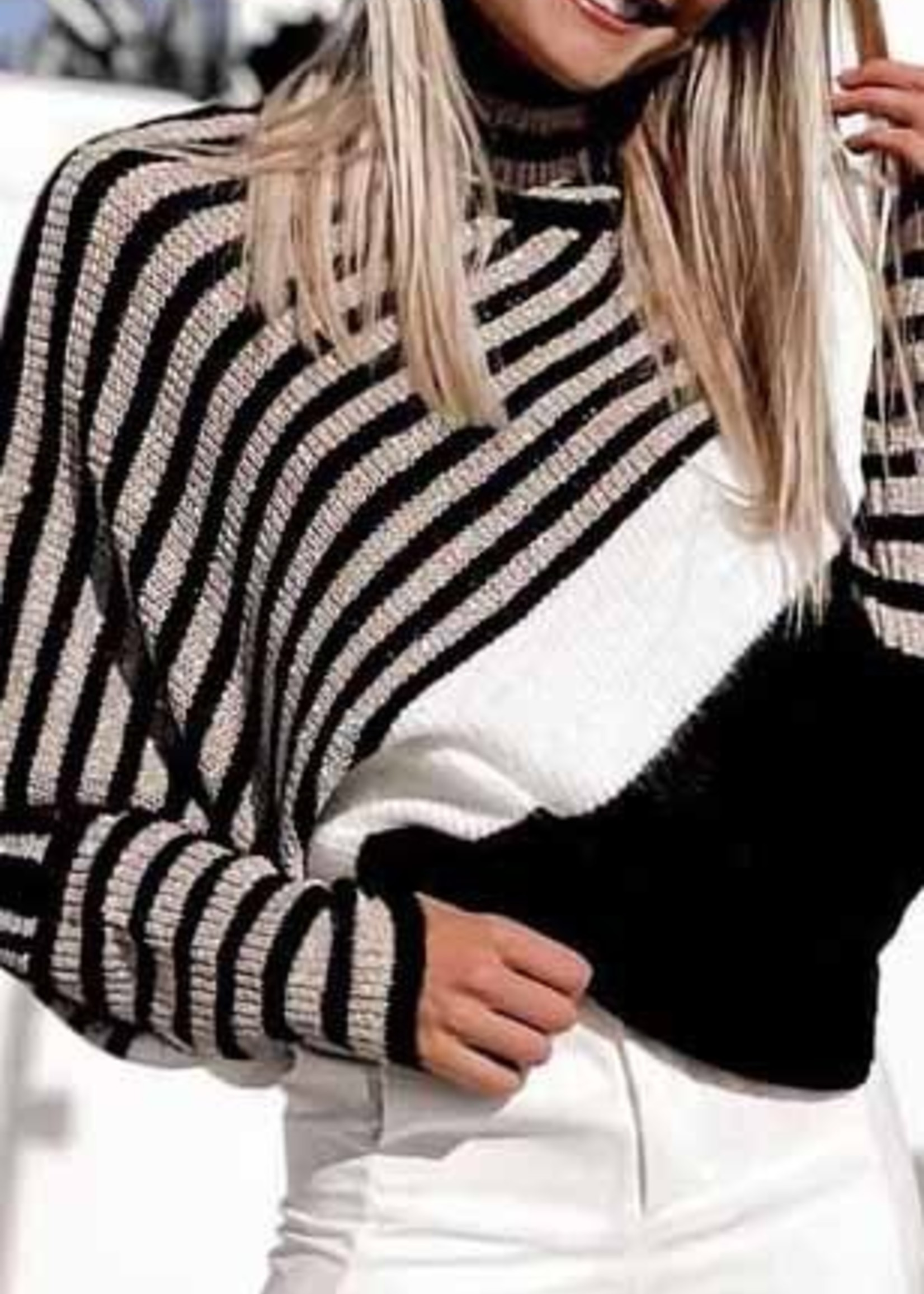 Mix stripe sweater