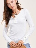 Button sleeve henley   +more colors
