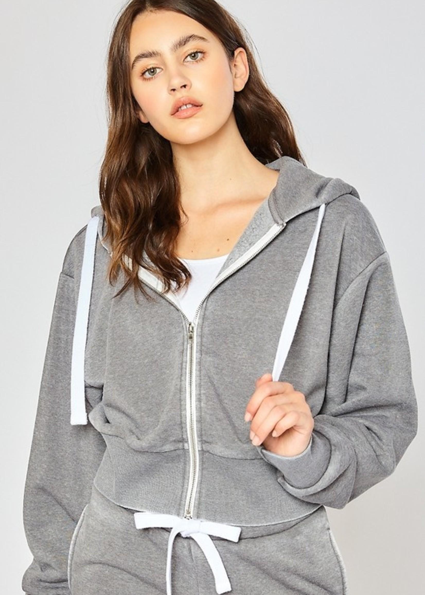 Burnout zip hoodie