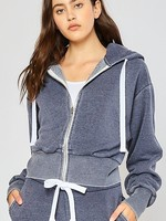 Burnout zip hoodie  +more colors