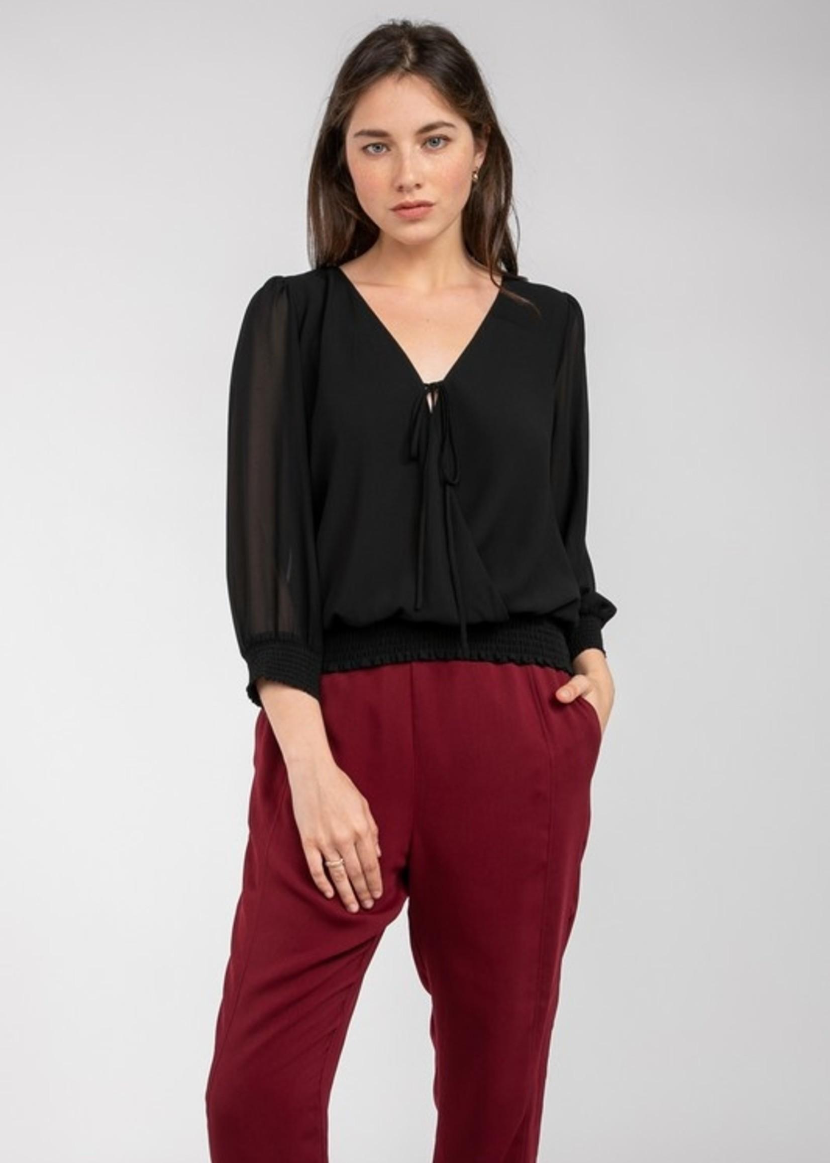 Banded bottom blouse