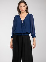Banded bottom blouse  +more colors
