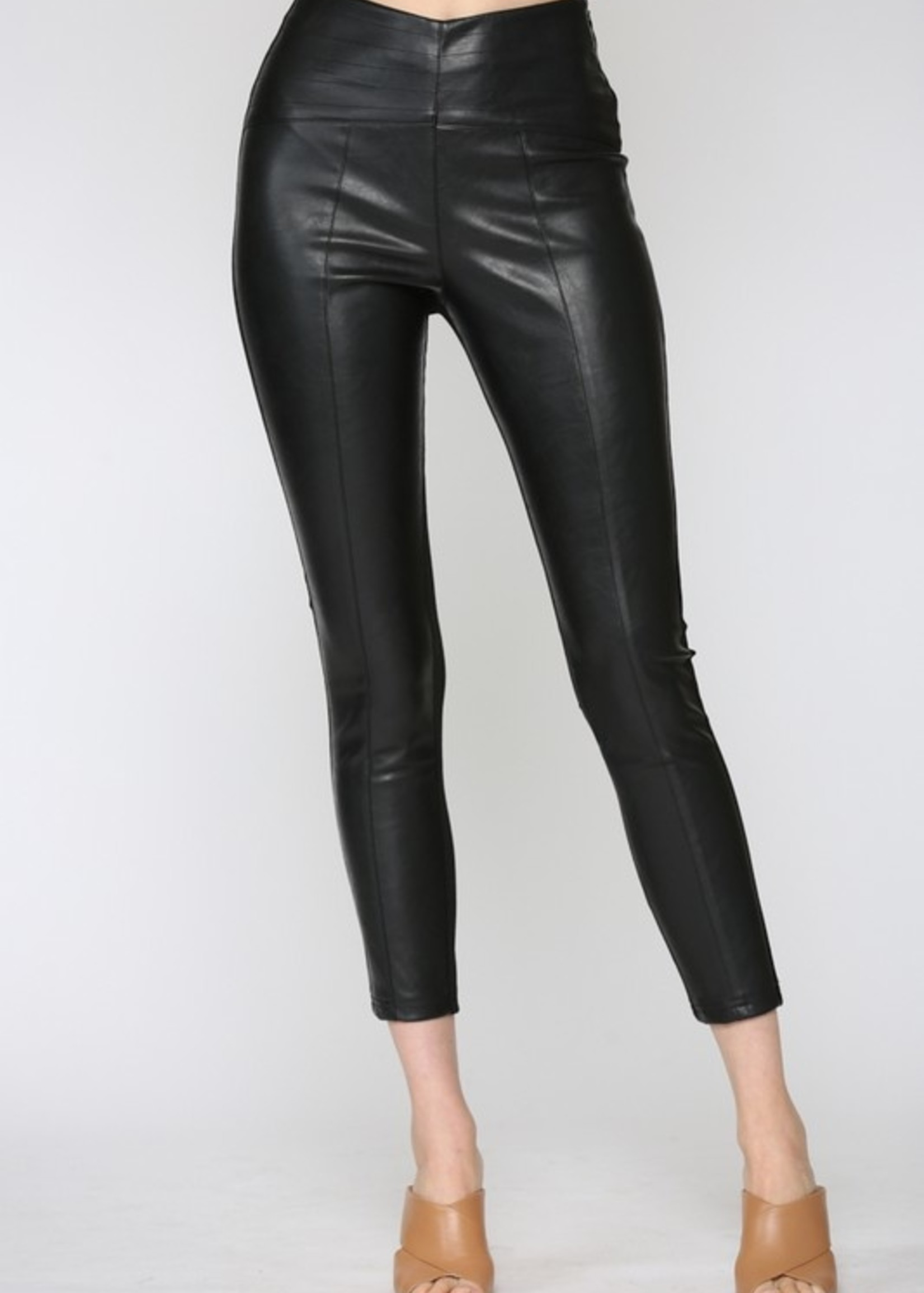 Ponte and leather legging