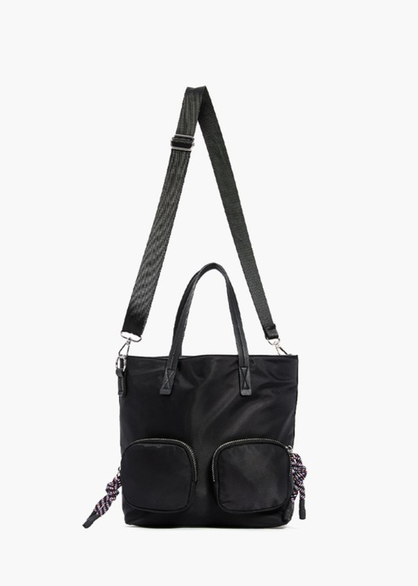 Tote with front pockets