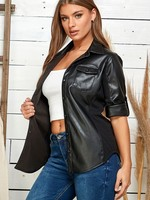 Leather button down +2 colors