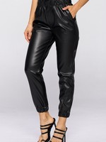 Paperbag leather jogger +2colors