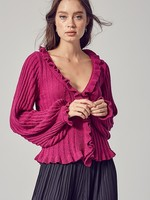 Ruffle knit top  +3 colors
