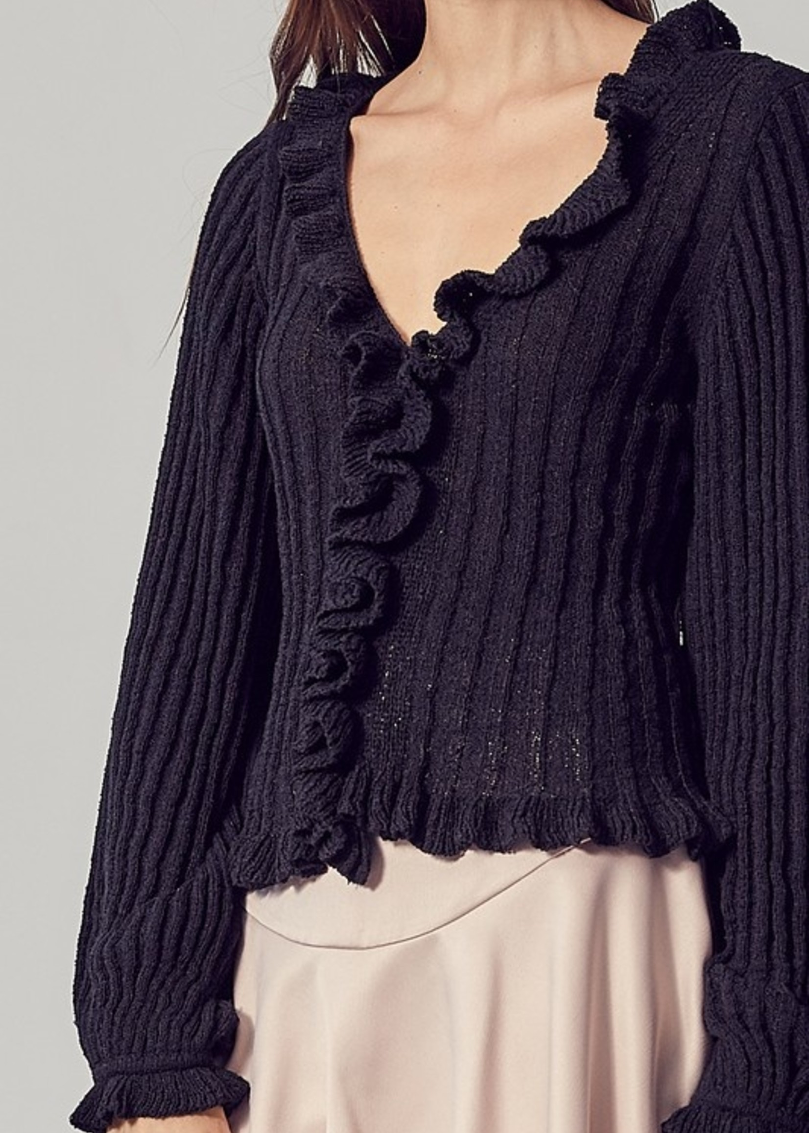 Ruffle knit top