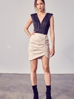 Ruched leather skirt  +2 colors