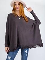 Fringe hem sweater  +2 colors
