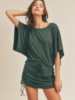 Side ruched mini dress  +2 colors