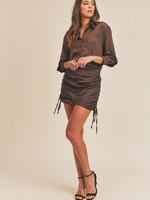 Satin shirt dress   +3 colors