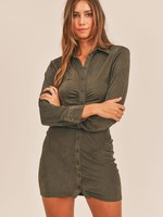 Slinky button down dress  +2 colors