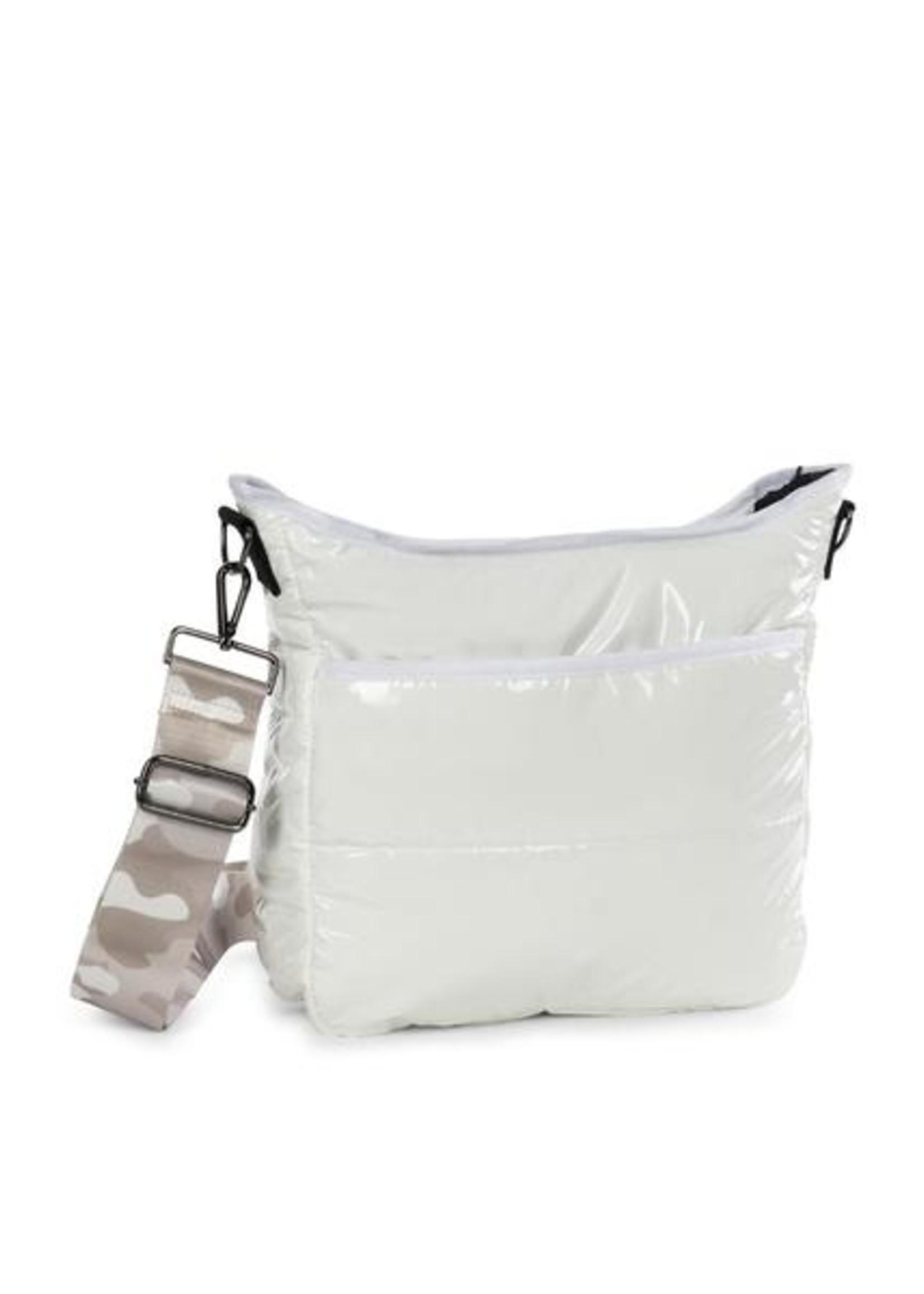 Perri blanc puffer bag