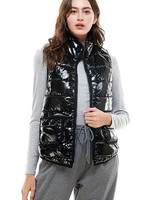 Shiny puffer vest