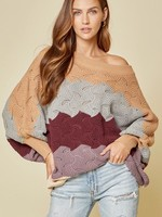 Wavy print sweater