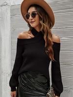 Cross neck knit top  +2 colors