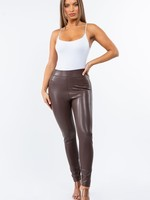 High rise leather legging  +2colors