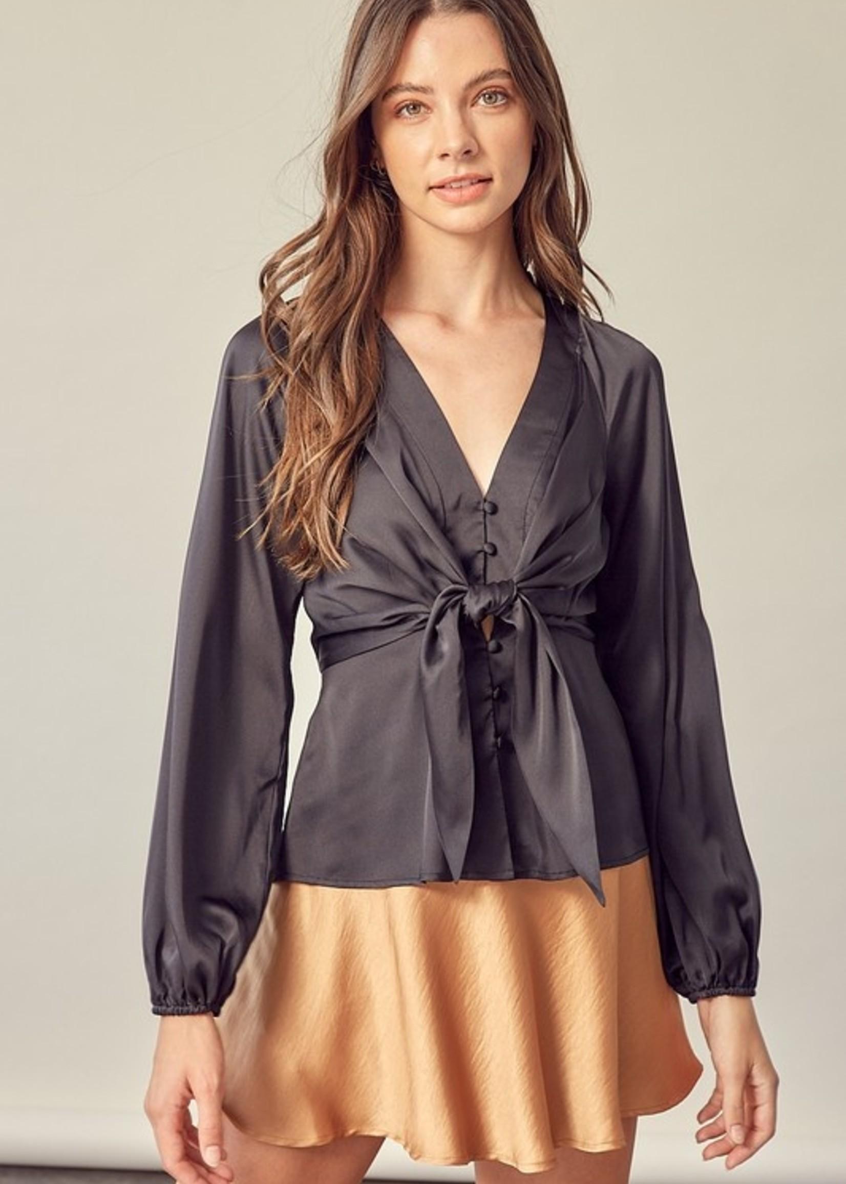Tie front blouse