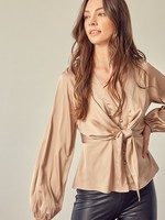 Tie front blouse   +2 colors