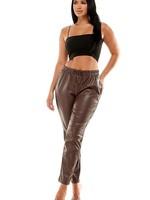 Faux leather jogger  + 2 colors