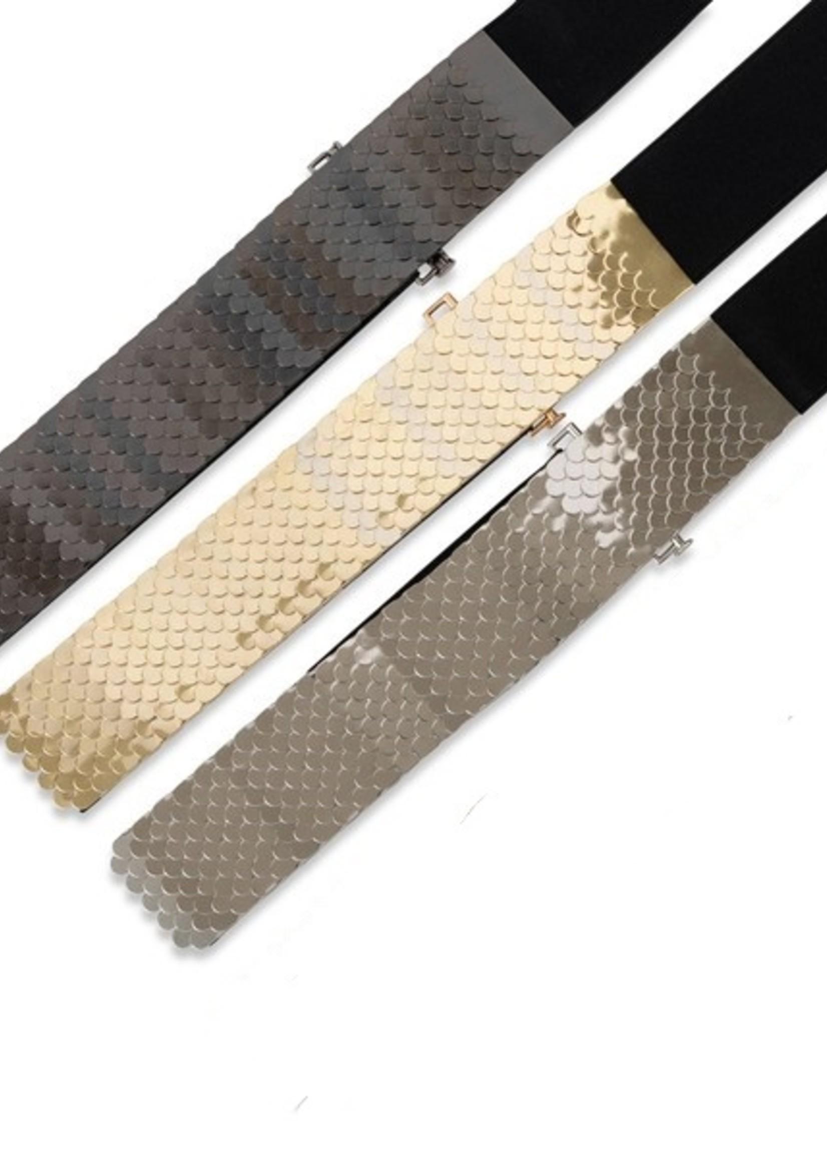 Metallic scale belt