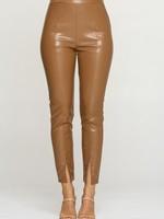 Leather slit bottom pant +2 colors
