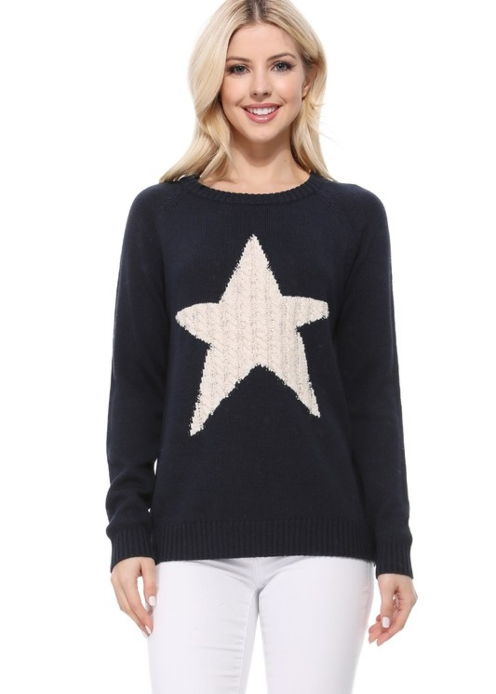 Cable star sweater