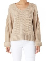 Bell sleeve sweater  +2 colors