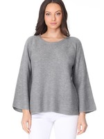 Rib bell sleeve sweater  +3 colors