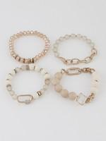 Lock bead bracelet set