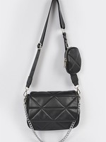 Quilted leather bag  + 5 colors