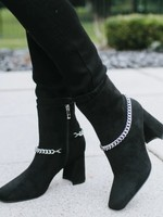 Suede chain bootie  +2 colors