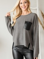 Leather pocket top  +2 colors