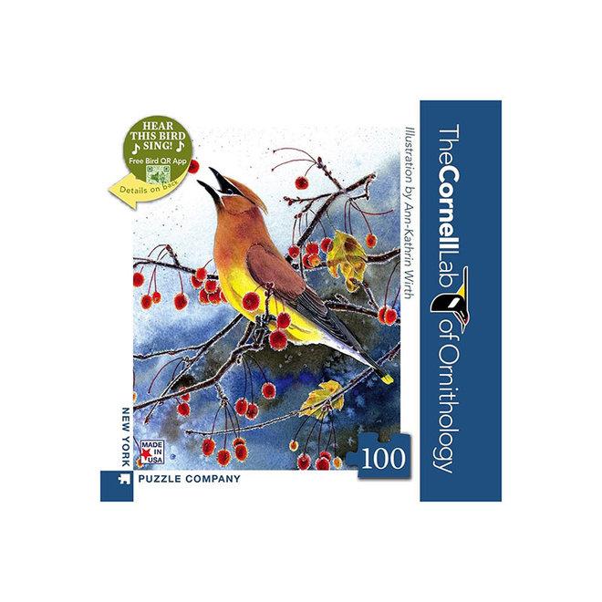 Cornell Lab of Ornithology: Cedar Waxwing Mini - 100 pcs