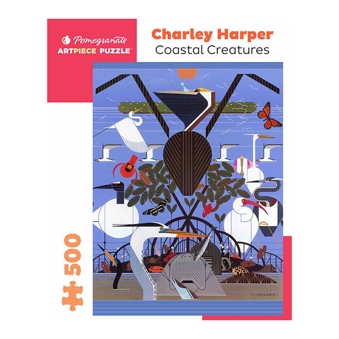 Charley Harper: Coastal Creatures - 500 pcs