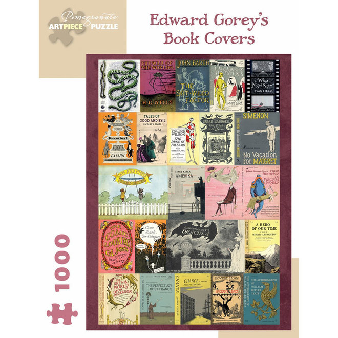Edward Gorey: Book Covers - 1000 pcs