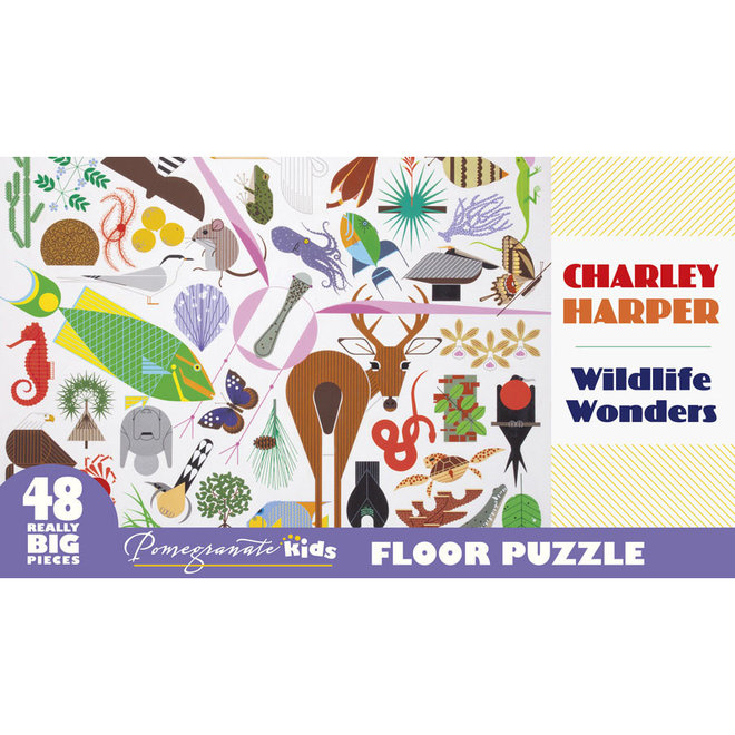 Charley Harper: Wildlife Wonders Floor Puzzle - 48 pcs