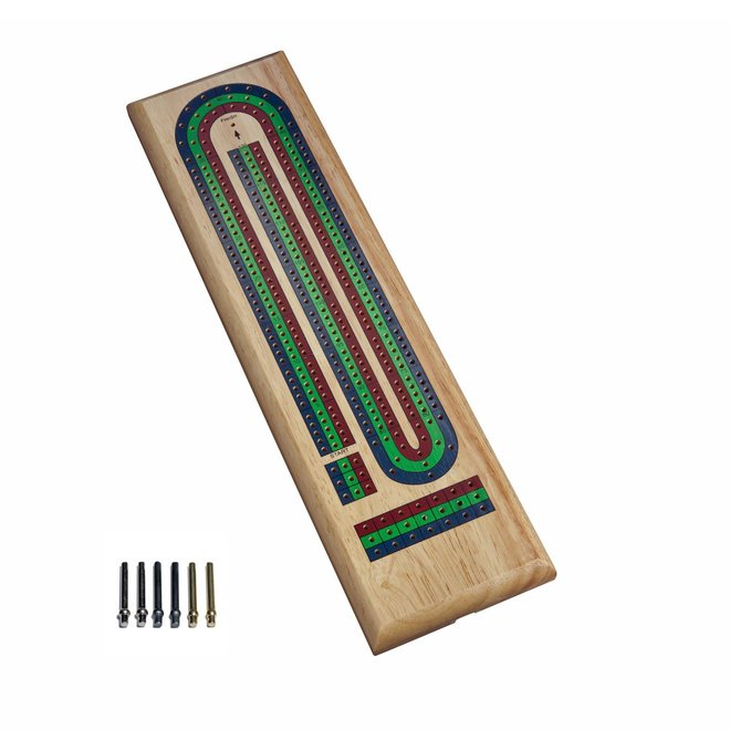 Classic Cribbage Set: Solid Wood with Metal Pegs