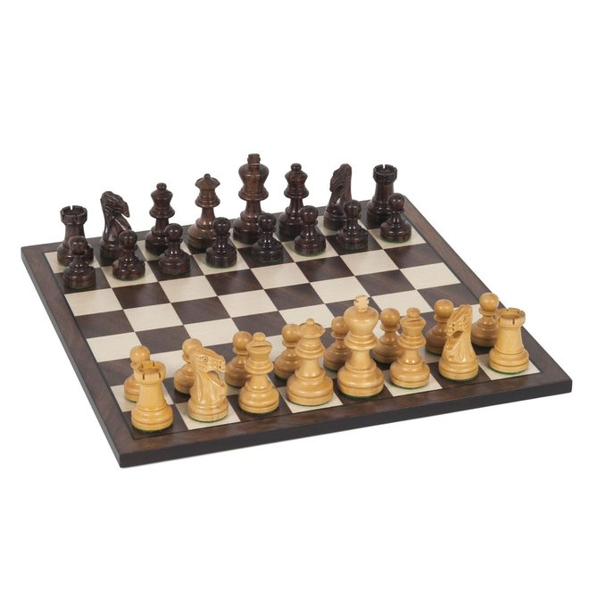 Staunton Chess Set: Weighted Wood Pieces & Board - 12 inch